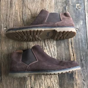 Florsheim Brown Suede Leather Chelsea Boots 10.5D
